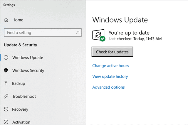 check for updates to speed up computer windows 10