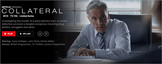collateral bbc on netflix