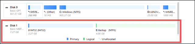 partitioning usb drives using tool