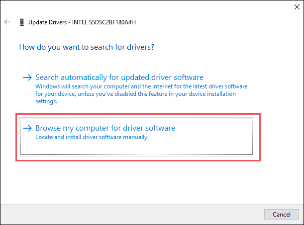 3 browse for download device drivers update drivers windows 10