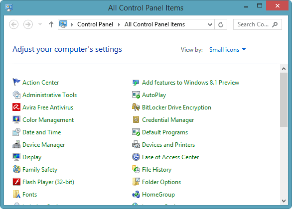 using-control-panel-windows-8
