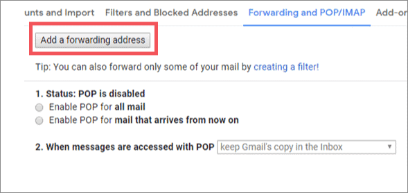 Type in address