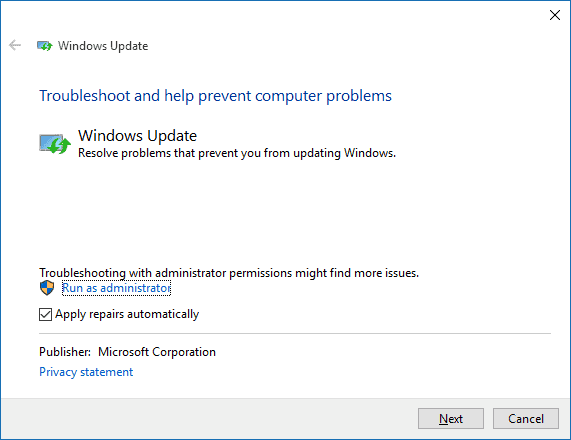 administrator-troubleshoot-windows-update