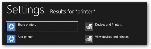 (3) search for devices & printers