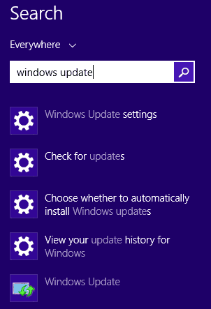 search-windows-update