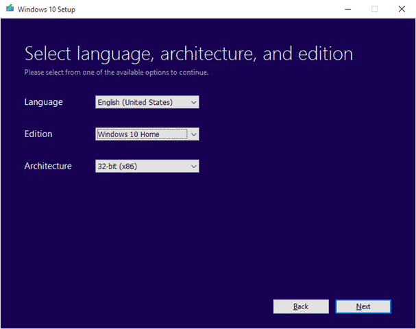 select-windows-10-version