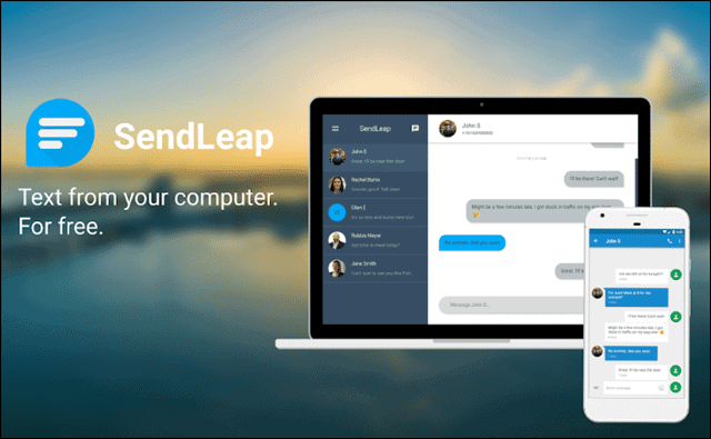 sendleap to connect android to pc