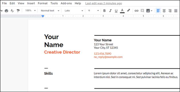 Create Professional Looking Resume With Google Docs 3 Bonus