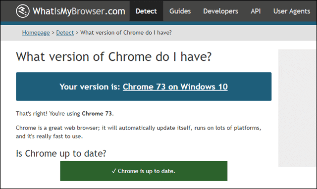 whatismybrowser what version of chrome do I have