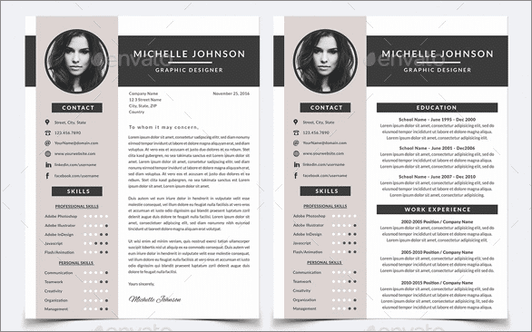 30 resume template for photoshop