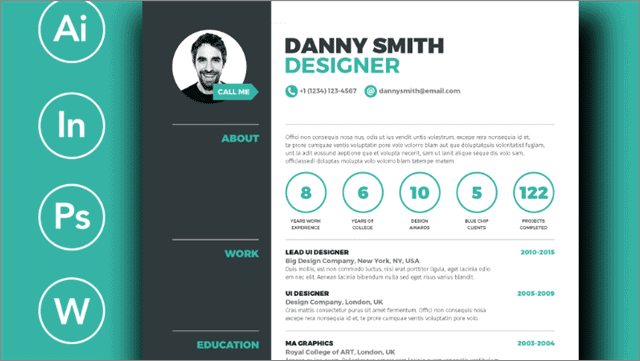 Danny Smith Free Resume Template indesign