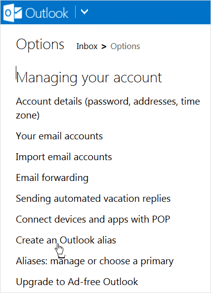 clicking-on-create-an-outlook-alias