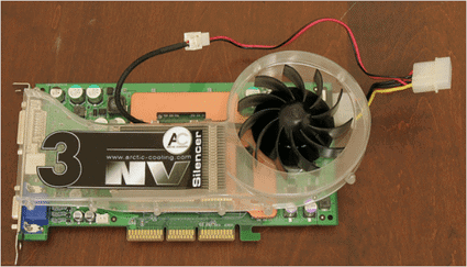 Video card fan.