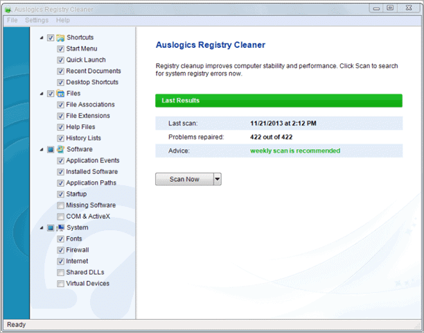 auslogics registry cleaner how to improve computer performance windows 10