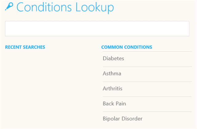 conditions-lookup-health-fitness-windows-8.1