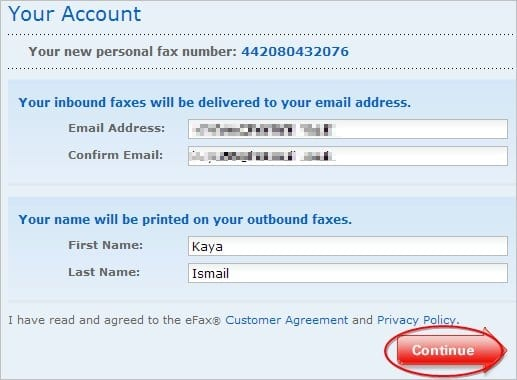 how to cancel my efax account