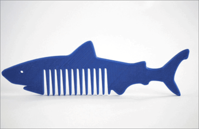 Shark Comb cool things to 3d print