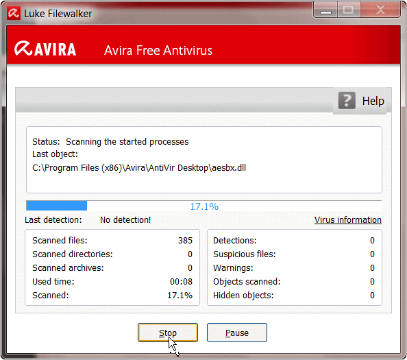 scanning-for-viruses-in-avira