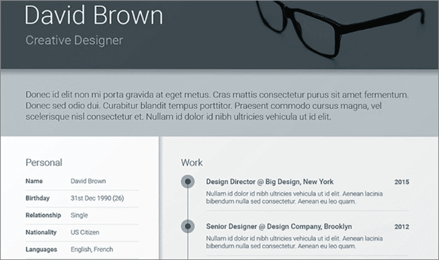 Free Material adobe indesign resume template