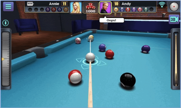 3d pool offline android games