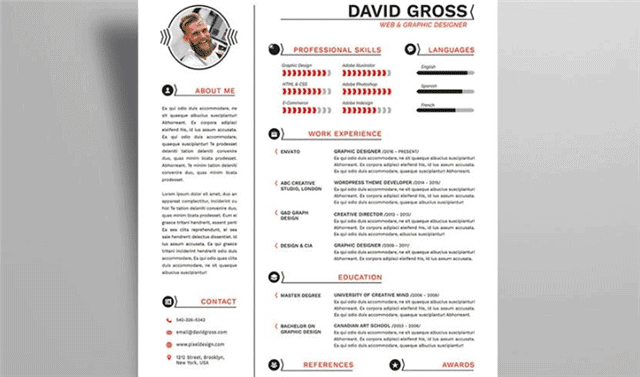 Hipster Style Resume Template