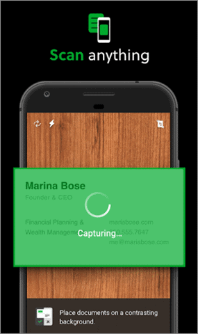 evernote scanning app for android
