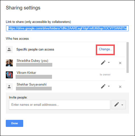 how to share files on Gdrive