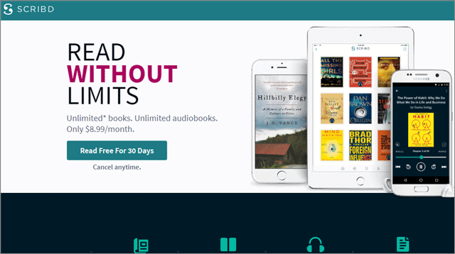 4 scribd playster vs audible