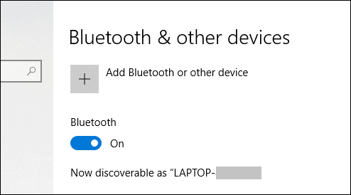 turn on bluetooth on windows 10