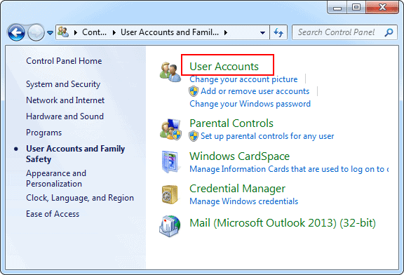 open-user-accounts-windows