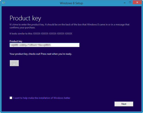 confirming-product-key