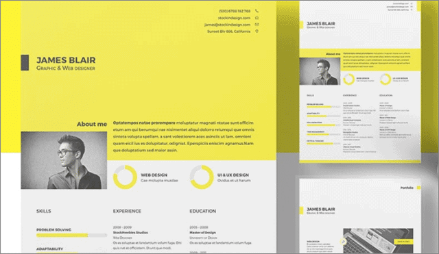 Free Resume indesign templates