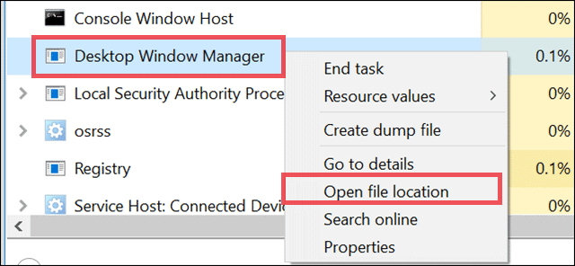 check virus in desktop window manager