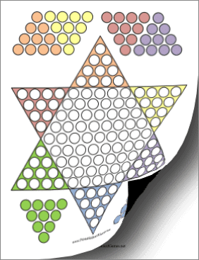5 chinese checkers printable board games