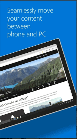 microsoft edge access android files on pc