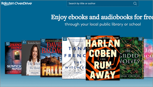 5 overdrive free audio books online
