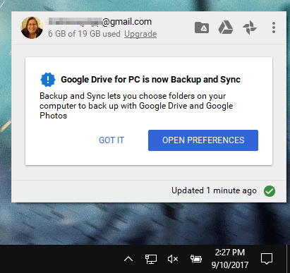 how to sync files from pc to google drive