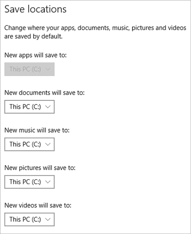 How to Change Default Save Location in Windows 10