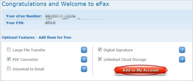 selecting-efax-extras