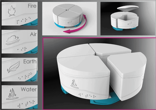 Four Elements- Fridge Organizer cool things to 3d print