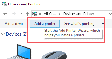 add printer active domain