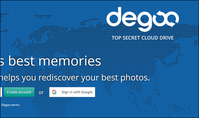 degoo cloud storage for photos