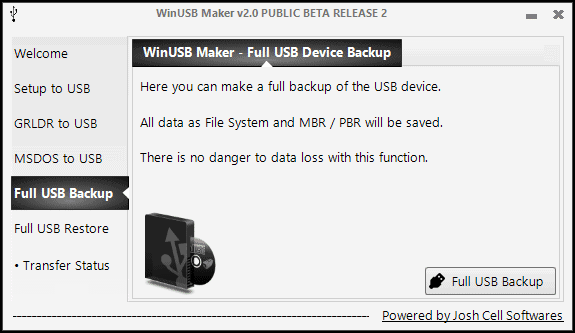 Full USB Backup