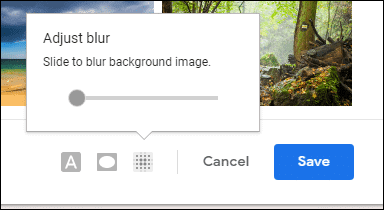 adjust blur on background image