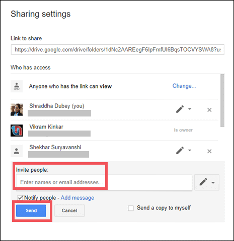 share google drive folder with non gmail users