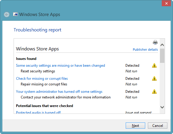 detailed-information-issues-app-troubleshooter-windows-8