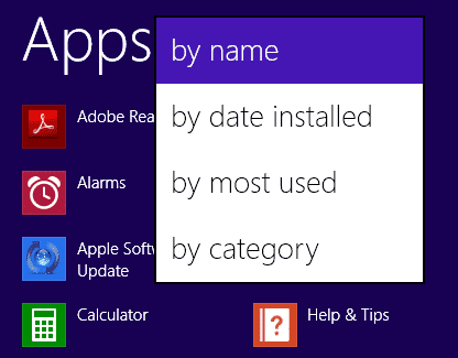 sort-apps-app-view-screen-windows-8.1