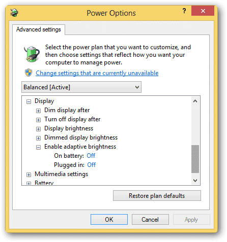turning-adaptive-brightness-off-in-windows-8
