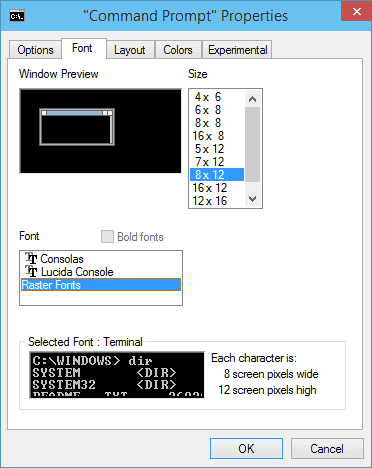 command-prompt-font-properties
