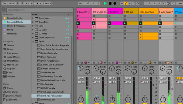 ableton live mixing software